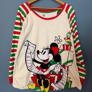 Disney Store Women's 2XL Mickey Christmas Shirt